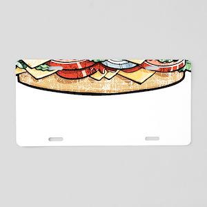 Pink Submarine_Cafe Aluminum License Plate