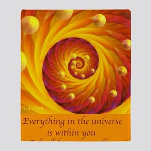 Universe Within Throw Blanket