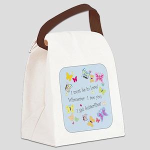 I Get ButterfliesB Canvas Lunch Bag