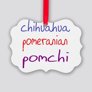pomchi_black Picture Ornament