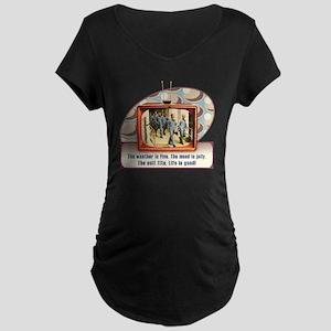 cp-rtv-apparel-suitfits Maternity Dark T-Shirt