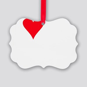 iheartpomchi_black Picture Ornament