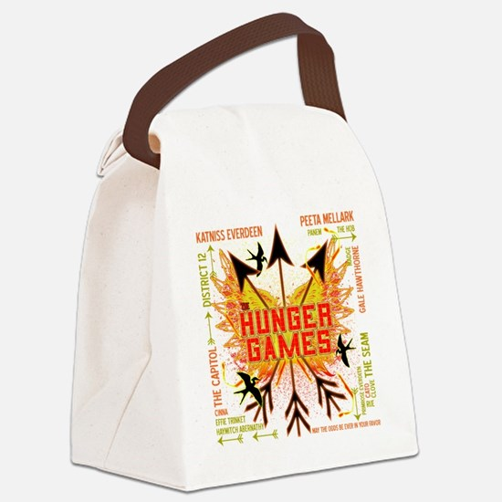 hunger games gear with 3 black ar Canvas Lunch Bag