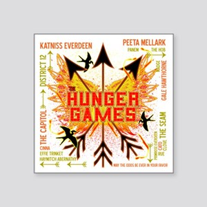 """hunger games gear with 3 bl Square Sticker 3"""" x 3"""""""