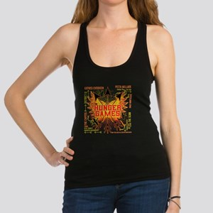 hunger games gear with 3 black  Racerback Tank Top