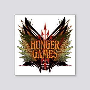 """hunger games with wings and Square Sticker 3"""" x 3"""""""