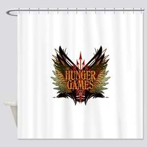 hunger games with wings and arrows  Shower Curtain