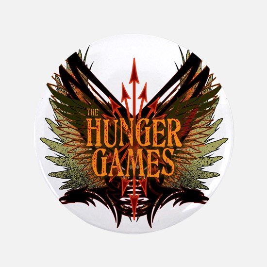 "hunger games with wings and arrows cop 3.5"" Button"