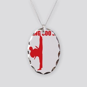 Tang Soo Do Dark Necklace Oval Charm