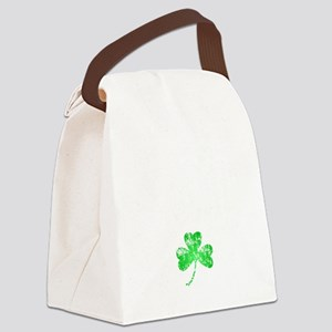 Lucky Shamrock -blk Canvas Lunch Bag