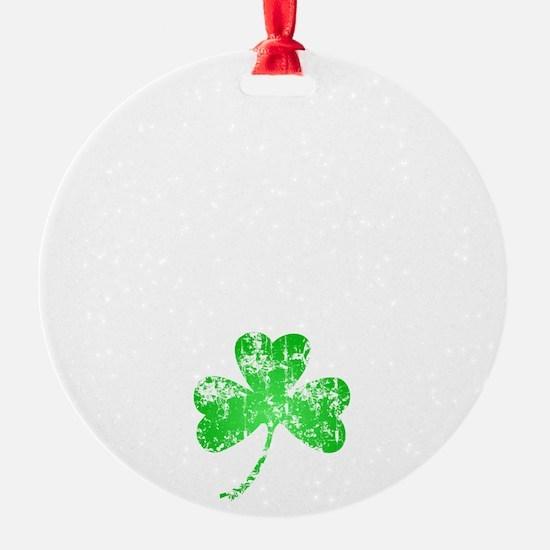 Lucky Shamrock -blk Ornament