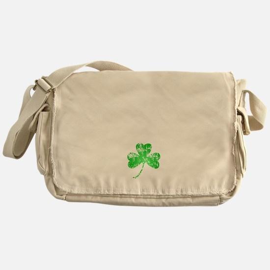 Lucky Shamrock -blk Messenger Bag