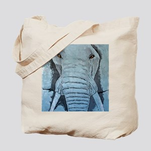Elephant in Blue small poster Tote Bag