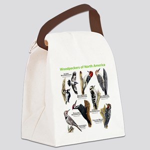 Woodpeckers of North America Canvas Lunch Bag