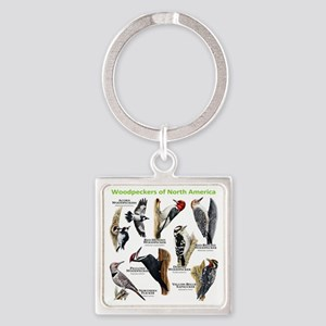 Woodpeckers of North America Square Keychain