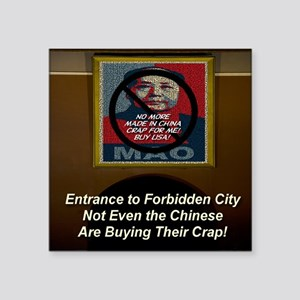 "entrance_to_forbidden_city Square Sticker 3"" x 3"""