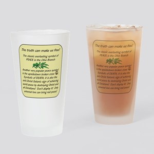 Peace Symbol TruthB Drinking Glass