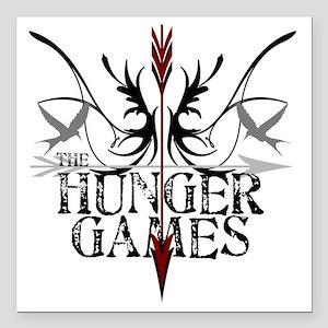 "best hunger games t-shir Square Car Magnet 3"" x 3"""