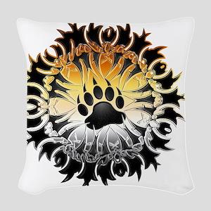 Tribal Bear Pride Paw Woven Throw Pillow