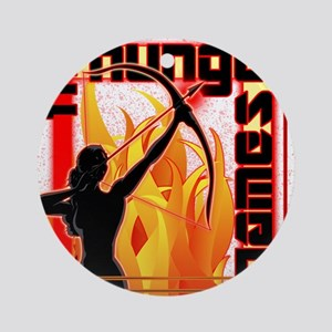 katniss on fire version 6 copy Round Ornament