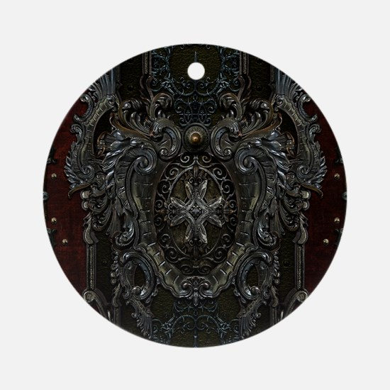 RHframedpanel Round Ornament