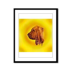 Beautiful Bloodhound Head stu Framed Panel Print