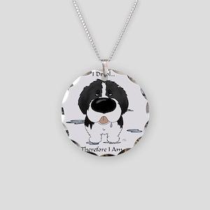LandseerDroolLight Necklace Circle Charm