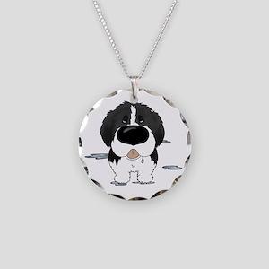 LandseerDroolDark Necklace Circle Charm