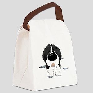 LandseerDroolDark Canvas Lunch Bag