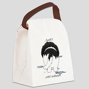 LandseerDroolMirrorLight Canvas Lunch Bag