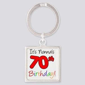 Nonnas 70th Birthday Party Square Keychain