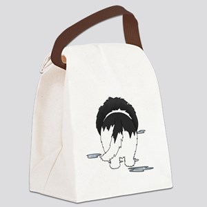 LandseerDroolMirrorDark Canvas Lunch Bag