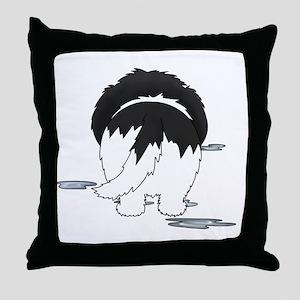 LandseerDroolMirrorDark Throw Pillow