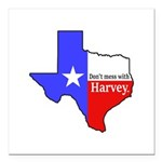 """Dont Mess With Harvey Square Car Magnet 3"""" x 3"""""""