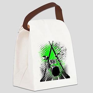 Drums  Sticks Canvas Lunch Bag
