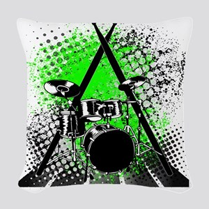 Drums  Sticks Woven Throw Pillow