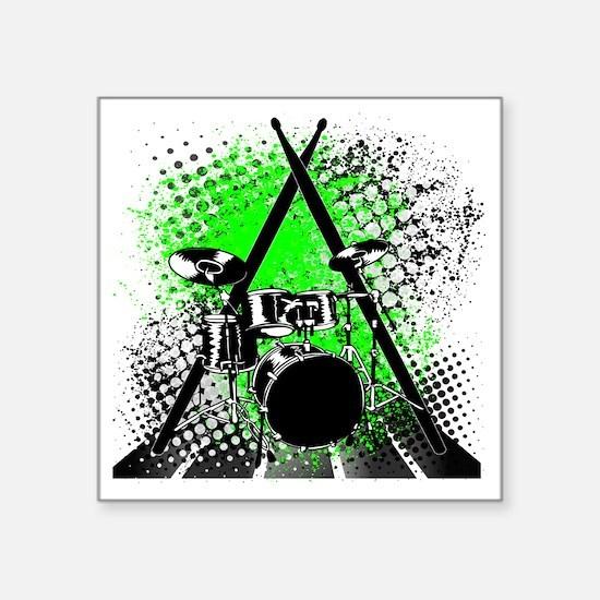 "Drums  Sticks Square Sticker 3"" x 3"""
