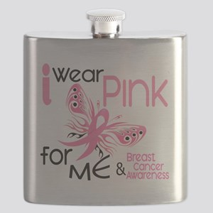 - I Wear Pink for Me Flask