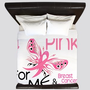 - I Wear Pink for Me King Duvet