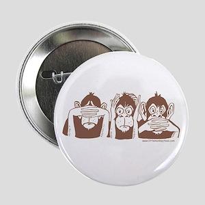 3 monkeys Button