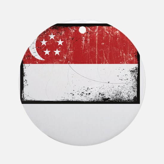 vintageSingapore3Bk Round Ornament