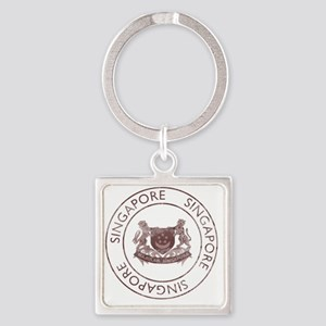 WingsSingapore2 Square Keychain