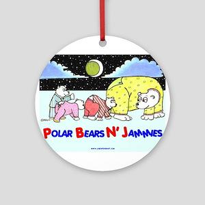 POLAR BEARS N' JAMMIES Ornament (Round)