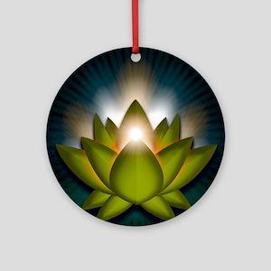 Chakra Lotus - Heart Green - Greeti Round Ornament