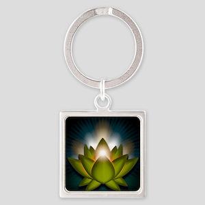 Chakra Lotus - Heart Green - Greet Square Keychain