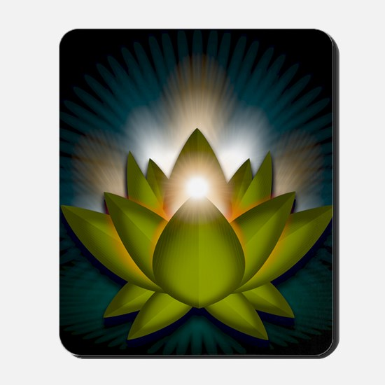 Chakra Lotus - Heart Green - Greeting Ca Mousepad