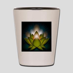 Chakra Lotus - Heart Green - Greeting C Shot Glass
