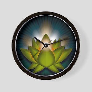 Chakra Lotus - Heart Green - Greeting C Wall Clock