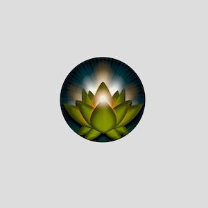 Chakra Lotus - Heart Green - Greeting  Mini Button