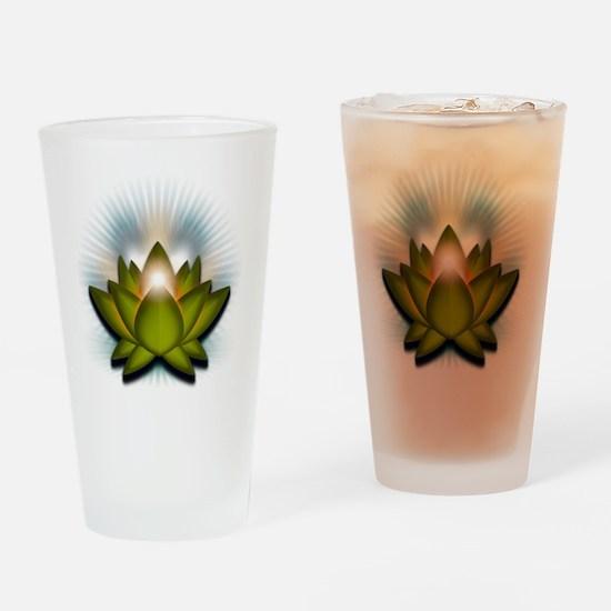 Chakra Lotus - Heart Green Drinking Glass